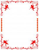 Lovely border with cupids and white space