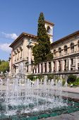 Beaux Arts Museum And A Fountain In Lausanne