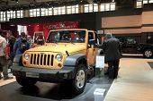 Brussels, Auto Motor Expo Jeep Wrangler