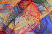 Abstract Background Of Colorful Fluttering Veils - Colored Psychedelic Painting Artwork poster