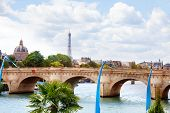 Pont Des Invalides Bridge In Paris And Eifel Tower France poster