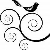Retro: Bird (Black And White)