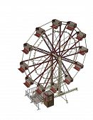 stock photo of png  - 3D rendered image of a fairground Ferris Wheel - JPG