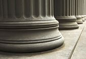 stock photo of neo-classic  - close up of columns of an old building - JPG