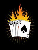Royal Flush on FIRE!