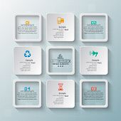 Vector Abstract 3d Paper Infographic Elements.business Infographics poster