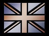 Metal British Flag