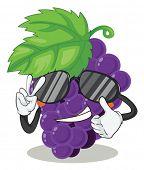 Ilustración de uvas sobre un fondo blanco
