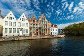 Bruges canals. Brugge, Belgium