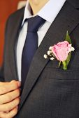 Rose In Buttonhole