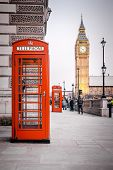 A photography of a red phone box in London UK