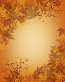 Thanksgiving Autumn Fall Leaves Border
