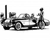 Drive In Burgers - Retro Clipart Illustration
