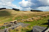 Mynydd Epynt Welsh hills scenic viewing point.