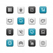 Network icons. Buttons