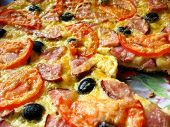 tasty pizza with an appetizing stuffing