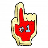 cartoon foam finger