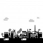 coal factory - industrial vector background