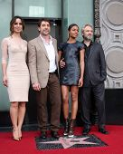 LOS ANGELES - NOV 8:  Berenice Marlohe, Javier Bardem, Naomie Harris, Sam Mendes at the Hollywood Wa