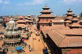 KATHMANDU, NEPAL - JANUARY 6: View of the Durbar Square, Patan January 6, 2009 in Kathmandu, Nepal. It is one of the 3 royal cities in  Kathmandu