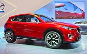 GENEVA - MARCH 8: The Mazda MX on display at the 81st International Motor Show Palexpo-Geneva on Mar