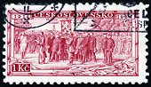 Postage Stamp Czechoslovakia 1934 Legion Receiving Battle Flag