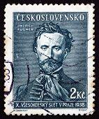 Postage Stamp Czechoslovakia 1938 Jindrich Fugner, Sokol Movemen