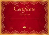 Certificate / Diploma template (guilloche pattern). Award background