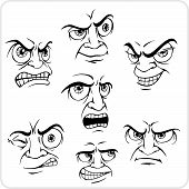 Negative emotions - vector set.