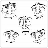 Emotions - vector set.