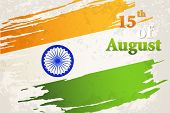 foto of ashok  - illustration of grungy Indian Flag for Indian Independence Day - JPG