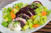 Mozzarella and beetroot salad