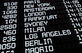 International Airport Board Display