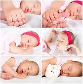 stock photo of have sweet dreams  - Little baby girl have a nice dreams - JPG