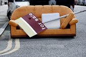 Moving Day - Sofa In Street For Sale