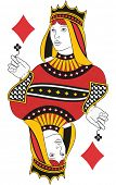 Queen of Diamonds without card. Original design