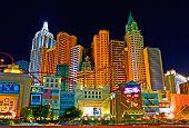 New York New York in Las Vegas at night