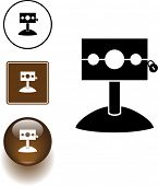 image of stockade  - medieval stockade symbol sign and button - JPG