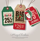 image of christmas theme  - Christmas theme sale tags - JPG