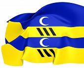 Flag Of Ameland, Netherland.