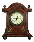 Old wooden clock vintage