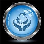 Protection nature. Internet button. Vector illustration.