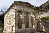Athenians Treasure, Delphi Greece.