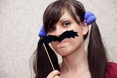Woman With Mustache