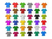 Colourful t-shirt icon isolated white background add your copy text in white shirt.