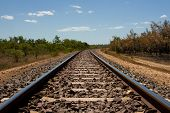 picture of darwin  - The Ghan railway near Darwin Northern Territory - JPG