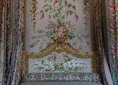 Bedroom of the queen, Chateau de Versailles, France