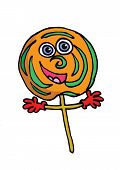 picture of lolli  - A smiling lolly as a cartoon character - JPG