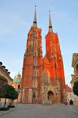 Wroclaw Cathedral  At Sunset