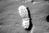 Footprint On Moon